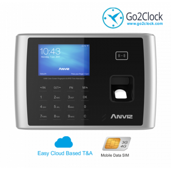 Anviz A380-4G Series Fingerprint & RFID Card Employee Time Clock